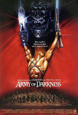 Army of Darkness - Theatrical international release poster by Renato Casaro