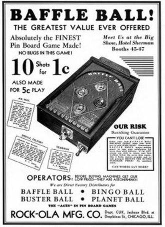 Baffle Ball - Image: Baffle Ball Pinball Flyer