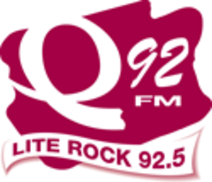 "CKBE-FM - Q92 logo from 2004-2009.  Note ""Lite Rock"" was replaced with ""Montreal"" for 2005."