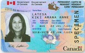 Canada permanent resident card - Permanent Resident Card (2002-2009)