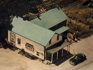 Walsh, Ontario - This is the Walsh General Store, owned and operated by Mr. Colwell, as seen in the 1950s.