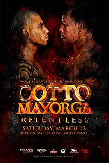 Miguel Cotto vs. Ricardo Mayorga Boxing competition