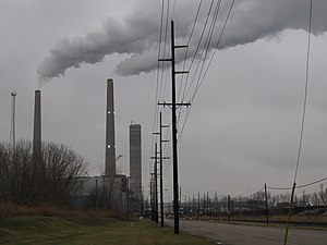Monroe County, Michigan - The Detroit Edison-owned Monroe Power Plant has the tallest structures in Monroe County.