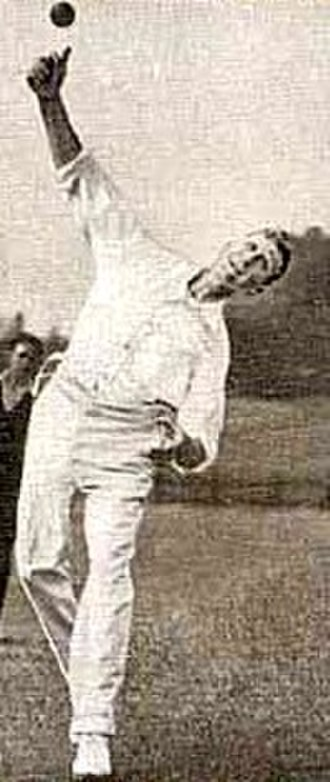 Don Blackie - Blackie in his delivery stride