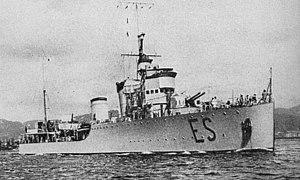 Turbine-class destroyer - Image: Espero at anchor