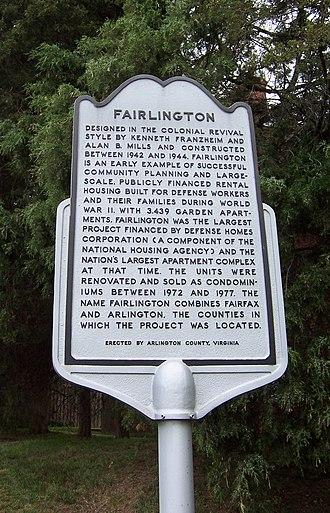 Fairlington, Arlington, Virginia - Fairlington Historical Marker