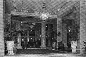 Hotel Pennsylvania - Image: Foyer of Hotel Pennsylvania , NY circa 1919