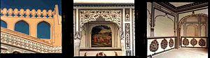 Kuchaman City -  Fresco paintings at Kuchaman Fort