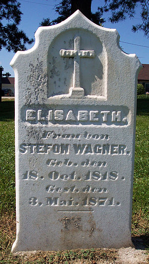 Random Acts of Genealogical Kindness - A typical tombstone photo as might be provided by a RAOGK member