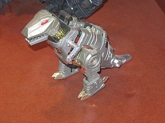 Grimlock - A Grimlock toy on display in the Natural History Museum, London.