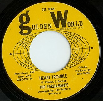 Heart Trouble (The Parliaments song) - Image: Hearttrouble