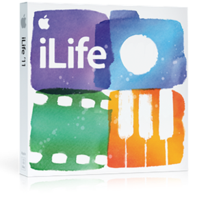 iLife suite of software applications for organizing, editing, and publishing photos, movies, and music