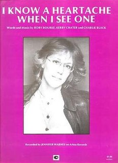 I Know a Heartache When I See One Song by Jennifer Warnes from her third LP Shot Through the Heart