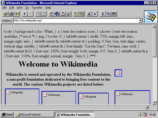 Internet Explorer 2 web browser of Microsoft