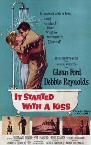 It Started with a Kiss (film) - Promotional movie poster for the film