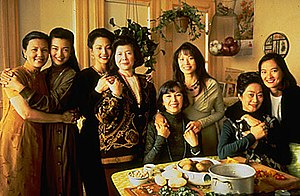 The Joy Luck Club (film) - from left: Suyuan (Kieu Chinh), June (Ming-Na Wen), Waverly (Tamlyn Tomita), Lindo (Tsai Chin), Ying-Ying (France Nuyen), Lena (Lauren Tom), An-Mei (Lisa Lu), and Rose (Rosalind Chao)