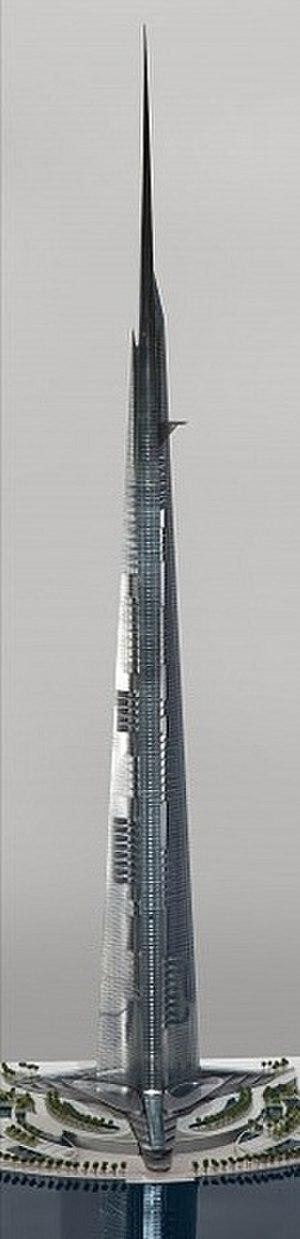 Jeddah Tower - Detailed rendering of Jeddah Tower cut out to show floors
