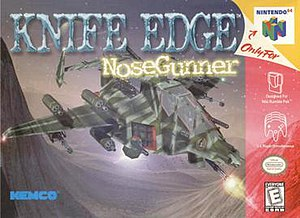 Knife Edge: Nose Gunner - North American Nintendo 64 cover art