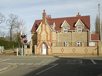 Lidlington railway station - The former station building at Lidlington station, now a private home.