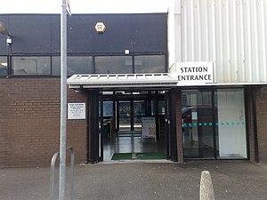Lurgan railway station - Image: Lurgan Railway Station Front Entrance