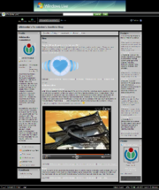 New MSN Spaces layout as of April 2005