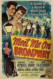 <i>Meet Me on Broadway</i> film directed by Leigh Jason