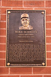 Mike Schmidt's bronze 1990 Wall of Fame plaque