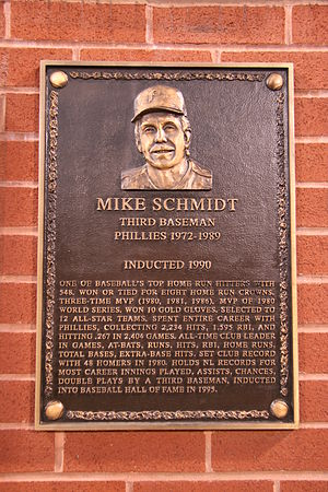 Plaque honoring Mike Schmidt at the Philadelph...