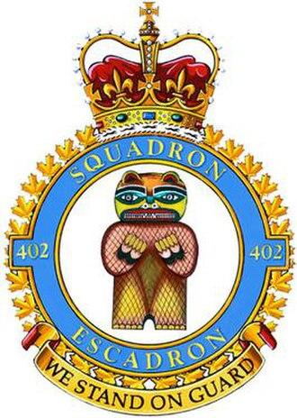 402 Squadron - Image: No. 402 Squadron RCAF badge