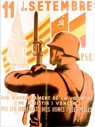 Unified Socialist Party of Catalonia - PSUC Civil War poster
