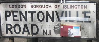 London Inner Ring Road - A battered street sign