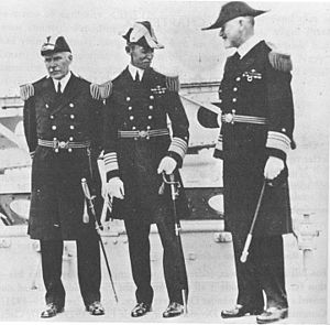 Louis McCoy Nulton - Nulton as Commander of Battle Fleet (center), May 21, 1929