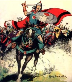 <i>Prince Valiant</i> 1937 comic strip by Hal Foster