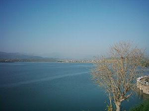 Rawal lake in Islamabad.