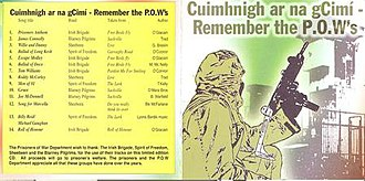 Irish rebel song - Republican Prisoners have used music as a form of protest during The Troubles in Northern Ireland.