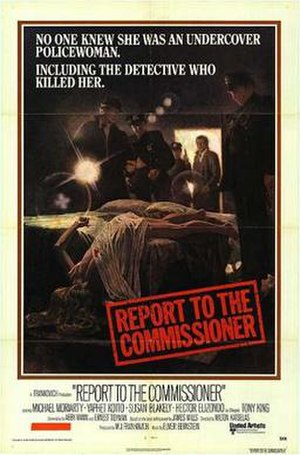 Report to the Commissioner - Theatrical release poster by Tom Jung