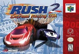Rush 2: Extreme Racing USA - North American Nintendo 64 cover art