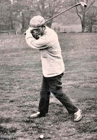 Peter Paxton - Paxton in about 1885 hitting a shot