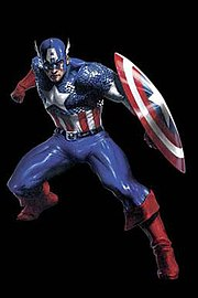 Captain America's costume display many features common to superheroes. Art by Gabriele Dell'Otto
