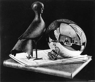 <i>Still Life with Spherical Mirror</i> print by M. C. Escher