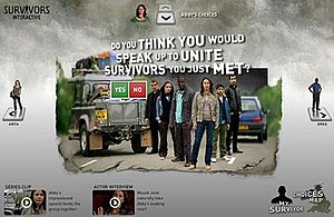 Survivors (2008 TV series) - Screenshot of BBC Survivors Interactive website