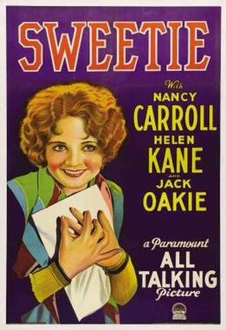 Sweetie (1929 film) - Theatrical release poster