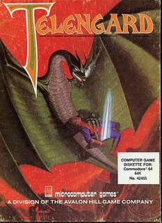 <i>Telengard</i> Dungeon crawler computer game from 1982