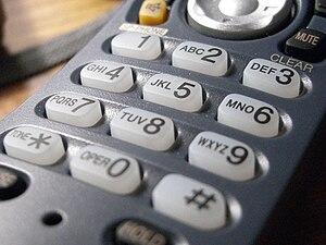 A standard telephone keypad.