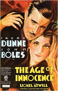 <i>The Age of Innocence</i> (1934 film) 1934 film by Philip Moeller