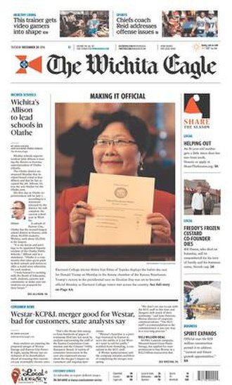 The Wichita Eagle - Image: The Wichita Eagle front page