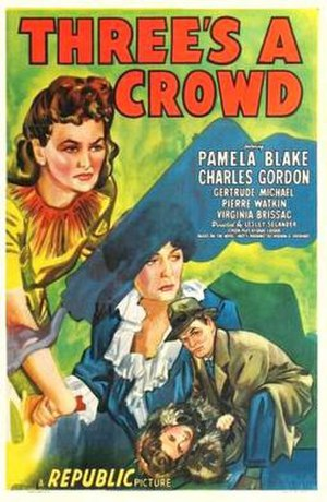 Three's a Crowd (1945 film) - Theatrical release poster