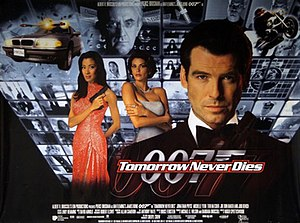 Tomorrow Never Dies - British cinema poster for Tomorrow Never Dies, by Keith Hamshere and George Whitear