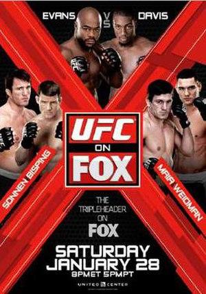 2012 in UFC - Image: UFC on Fox Evans vs. Davis poster