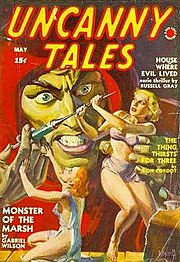 Uncanny Tales (May 1940), one of the Red Circle pulp magazines